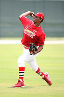 April 14, 2009:  Pitcher Amaury Castillo (40) of the St. Louis Cardinals extended spring training team during a game at Roger Dean Stadium Training Complex in Jupiter, FL.  Photo by:  Mike Janes/Four Seam Images