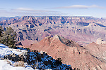 Grand Canyon National Park, South Rim, Arizona; views from Navajo Point, morning, winter