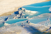 Photo & Image  of Pamukkale Travetine Terrace, Turkey. Picture of the white Calcium carbonate rock formations. Buy as stock photos or as photo art prints. 3 Pamukkale travetine terrace water cascades, composed of white Calcium carbonate rock formations, Pamukkale, Anatolia, Turkey