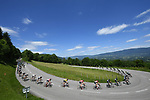 The peloton including race leader Thomas De Gendt (BEL) Lotto-Soudal in action during Stage 6 of the Criterium du Dauphine 2017, running 147.5km from Parc des Oiseaux - Villars-les-Dombes to La Motte-Servolex, France. 9th June 2017. <br /> Picture: ASO/A.Broadway | Cyclefile<br /> <br /> <br /> All photos usage must carry mandatory copyright credit (&copy; Cyclefile | ASO/A.Broadway)