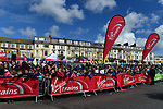 School children at sign on before the start of Stage 1 of the Tour de Yorkshire 2017 running 174km from Bridlington to Scarborough, England. 28th April 2017. <br /> Picture: ASO/P.Ballet | Cyclefile<br /> <br /> <br /> All photos usage must carry mandatory copyright credit (&copy; Cyclefile | ASO/P.Ballet)