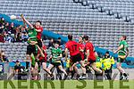 Jack Brosnan Glenbeigh Glencar in action against Ciaran Gourle Rock Saint Patricks in the Junior Football All Ireland Final in Croke Park on Sunday.
