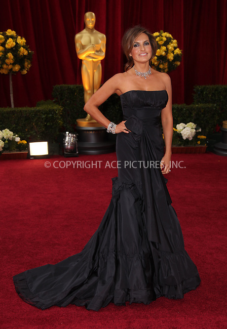WWW.ACEPIXS.COM . . . . .  ....March 7 2010, Hollywood, CA....Actress Mariska Hargitay arriving at the 82nd Annual Academy Awards held at Kodak Theatre on March 7, 2010 in Hollywood, California.....Please byline: Z10-ACE PICTURES... . . . .  ....Ace Pictures, Inc:  ..Tel: (212) 243-8787..e-mail: info@acepixs.com..web: http://www.acepixs.com