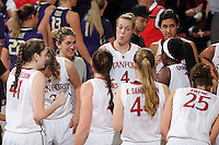 STANFORD, CA - February 27, 2014: Stanford Cardinal's Taylor Greenfield after Stanford's 83-60 victory over Washington at Maples Pavilion.