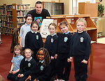 Students from Marymount with Oisín McGann at the World Book Day Workshop in The Library...Photo NEWSFILE/Jenny Matthews.(Photo credit should read Jenny Matthews/NEWSFILE)....This Picture has been sent you under the condtions enclosed by:.Newsfile Ltd..The Studio,.Millmount Abbey,.Drogheda,.Co Meath..Ireland..Tel: +353(0)41-9871240.Fax: +353(0)41-9871260.GSM: +353(0)86-2500958.email: pictures@newsfile.ie.www.newsfile.ie.FTP: 193.120.102.198.