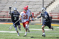 College Park, MD - April 8, 2017: Maryland Terrapins Matt Neufeldt (28) gets the loose ball during game between Penn State and Maryland at  Capital One Field at Maryland Stadium in College Park, MD.  (Photo by Elliott Brown/Media Images International)