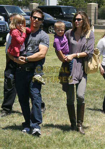 MARK WAHLBERG, DAUGHTER ELLA RAE, RHEA DURHAM & SON MICHAEL .Elizabeth Glaser Pediatric AIDS Foundation 20th Annual A Time For Heroes Celebrity Carnival held at Wadsworth Theater, Los Angeles, CA, USA, 6th June, 2009..full length sunglasses father dad child kid carrying holding family couple girlfriend kids children .CAP/ADM/MJ.©Michael Jade/Admedia/Capital Pictures