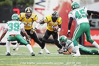 October 31, 2009; Hamilton, ON, CAN;  Hamilton Tiger-Cats wide receiver Kevin Robinson (1). CFL football: Saskatchewan Roughriders vs. Hamilton Tiger-Cats at Ivor Wynne Stadium. The Tiger-Cats defeated the Roughriders 24-6. Mandatory Credit: Ron Scheffler. Copyright (c) 2009 Ron Scheffler.