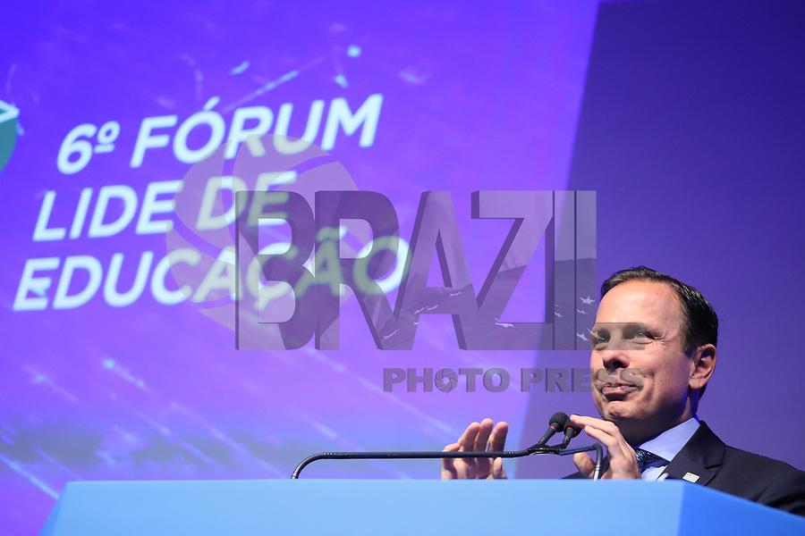 SÃO PAULO, SP, 05.11.2019 - POLITICA-SP - João Doria, Governador de São Paulo, participa do 6° Fórum Lide de Educação, no Hotel Hilton Morumbi, em São Paulo, nesta terça-feira, 5. (Foto Charles Sholl/Brazil Photo Press)