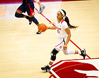 STANFORD, CA - February 22, 2019: DiJonai Carrington at Maples Pavilion. The Stanford Cardinal defeated the Arizona Wildcats 56-54.