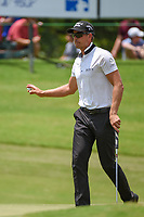 Henrik Stenson (SWE) after sinking his putt on 8 during round 3 of the WGC FedEx St. Jude Invitational, TPC Southwind, Memphis, Tennessee, USA. 7/27/2019.<br /> Picture Ken Murray / Golffile.ie<br /> <br /> All photo usage must carry mandatory copyright credit (© Golffile | Ken Murray)