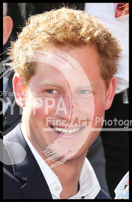Prince Harry at the London Marathon, Sunday 21st April 2013 Photo by: Stephen Lock / i-Images