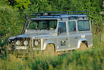 Germany, Bad Kissingen, Allrad Messe, 15-18.06.2006. Silver metallic Land Rover Defender 110 TD5 used by Land Rover Experience for training purposes. --- No releases available. Automotive trademarks are the property of the trademark holder, authorization may be needed for some uses.