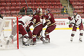 Meghan Grieves (BC - 17) scored her first of two goals. - The visiting Boston College Eagles defeated the Harvard University Crimson 2-0 on Tuesday, January 19, 2016, at Bright-Landry Hockey Center in Boston, Massachusetts.
