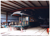3/4 rear right-side view of OR&amp;L parlor car #64 at Hawaiian Railroad Society's shed.<br /> Oahu Ry. &amp; Land Co.  Honolulu, Hi