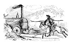 (Colonel Sibthorpe as Don Quixote attacking a steam engine labelled 'PUNCH')