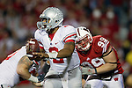 Ohio State quarterback Terrelle Pryor (2) looks for a receiver during an NCAA college football game against the Wisconsin Badgers on October 16, 2010 at Camp Randall Stadium in Madison, Wisconsin. The Badgers beat the Buckeyes 31-18. (Photo by David Stluka)