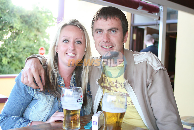 Sarah Quinn and Colin Balfe in the Bellewstown Inn...Photo NEWSFILE/Jenny Matthews.(Photo credit should read Jenny Matthews/NEWSFILE)....This Picture has been sent you under the condtions enclosed by:.Newsfile Ltd..The Studio,.Millmount Abbey,.Drogheda,.Co Meath..Ireland..Tel: +353(0)41-9871240.Fax: +353(0)41-9871260.GSM: +353(0)86-2500958.email: pictures@newsfile.ie.www.newsfile.ie.FTP: 193.120.102.198.