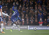 12th September 2017, Stamford Bridge, London, England; UEFA Champions League Group stage, Chelsea versus Qarabag FK; Michy Batshuayi of Chelsea with a shot