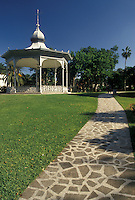 Bermuda, Hamilton, Gazebo in Victoria Park in the town of Hamilton in Bermuda.