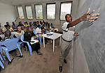 A class at Patrice Lumumba University, a United Methodist school in the Congolese village of Wembo Nyama.