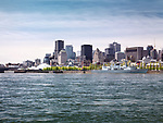 City of Montreal downtown waterfront skyline daytime scenery, Quebec, Canada. Ville de Montréal, Québec, Canada 2017.