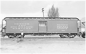 Baggage car #127 built by D&amp;RG as #28 in 1883.  Renumbered in 1885/1886.<br /> D&amp;RGW  Durango, CO  Taken by Richardson, Robert W. - 8/6/1950