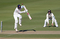 Jamie Porter of Essex defends a short ball during Surrey CCC vs Essex CCC, Specsavers County Championship Division 1 Cricket at the Kia Oval on 13th April 2019