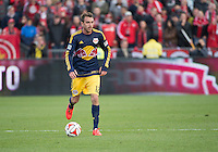 Toronto, Ontario - May 17, 2014: New York Red Bulls midfielder Eric Alexander #12 in action during a game between the New York Red Bulls and Toronto FC at BMO Field. Toronto FC won 2-0.