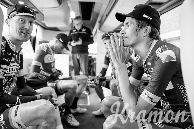 Yoann Offredo (FRA/Wanty-Groupe Gobert) on the teambus pre-race<br /> <br /> 60th E3 Harelbeke (1.UWT)<br /> 1day race: Harelbeke &rsaquo; Harelbeke - BEL (206km)