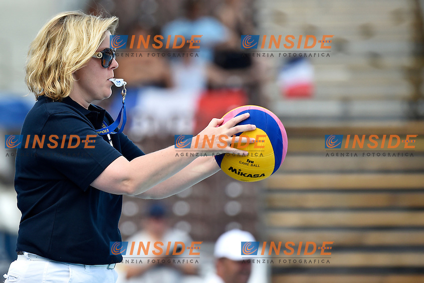 referee <br /> Italy - France / Italia - Francia<br /> LEN European Water Polo Championships 2014<br /> Alfred Hajos -Tamas Szechy Swimming Complex<br /> Margitsziget - Margaret Island<br /> Day03 Women - July 16 <br /> Photo A.Staccioli/Insidefoto/