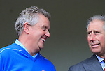 Prince Charles and European Team Captain Colin Montgomerie during Practice Day 2 at the 2010 Ryder Cup at the Celtic Manor Twenty Ten Course, Newport, Wales, 29th September 2010..(Picture Eoin Clarke/www.golffile.ie)