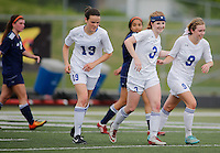 NWA Democrat-Gazette/DAVID GOTTSCHALK - 5/8/15 - Rogers Heritage High School versus Rogers High School Lady Mounties soccer Friday May 8, 2015 at Rogers High Smith Stadium.