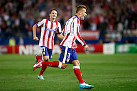 Griezmann of Atletico de Madrid scores during Champios Legue soccer match between Atletico de Madrid V Malmoe al Vicente Calderon Stadium. October 22, 2014. (ALTERPHOTOS/Caro Marin)