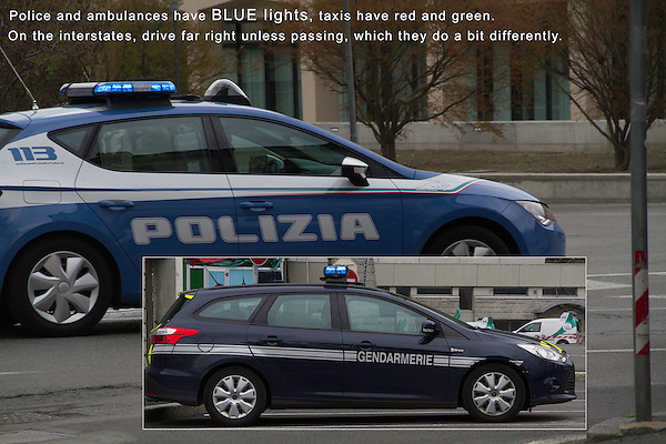 Driving in Europe. The Police.<br />