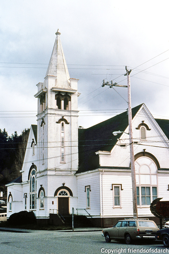 Ferndale CA:  Church, 1870's. Now closed.   Photo '83.