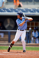 Charlotte Stone Crabs right fielder Nathan Lukes (4) at bat during a game against the Palm Beach Cardinals on April 12, 2017 at Charlotte Sports Park in Port Charlotte, Florida.  Palm Beach defeated Charlotte 8-7.  (Mike Janes/Four Seam Images)