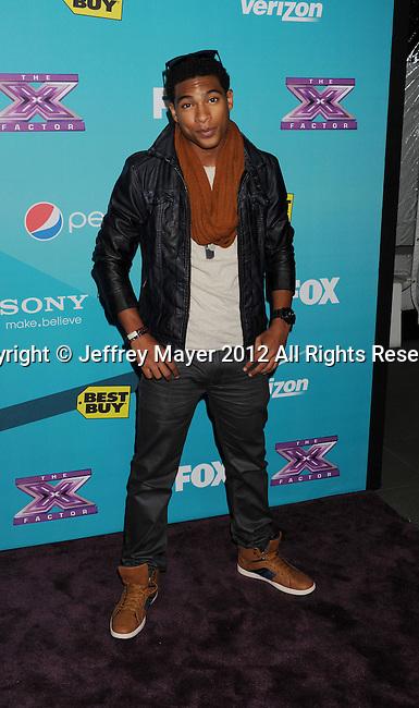LOS ANGELES, CA - NOVEMBER 05: Arin Ray arrives at FOX's 'The X Factor' finalists party at The Bazaar at the SLS Hotel Beverly Hills on November 5, 2012 in Los Angeles, California.