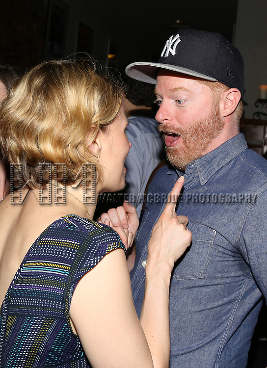 Celia Keenan-Bolger and Jesse Tyler Ferguson attends the After Party for the One Night Only 10th Anniversary Concert of 'The 25th Annual Putnam County Spelling Bee' at Town Hall on July 6, 2015 in New York City.
