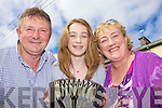 Dan, Lisa and Mary Shine from Abbeyfeale at the street music last Sunday for the Athea Feile