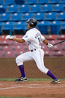 Christian Marrero #24 of the Winston-Salem Dash follows through on his swing versus the Potomac Nationals at Wake Forest Baseball Stadium May 8, 2009 in Winston-Salem, North Carolina. (Photo by Brian Westerholt / Four Seam Images)