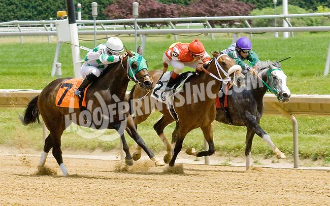 Gagne winning at Delaware Park on 6/13/12