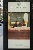 Poster outside the Metropolitan Museum of Art, Manhattan, New York, with photo credited to online library Flickr.