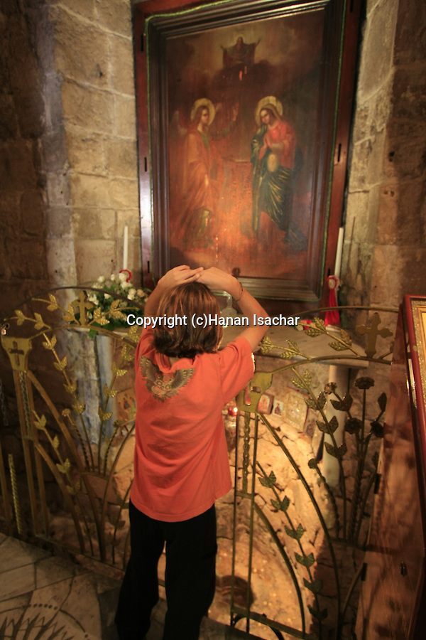 Israel, Nazareth, the Greek Orthodox Church of the Annunciation, the Church of St. Gabriel, the source of Mary's Well