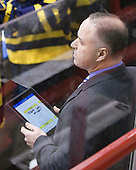 Mark Dennehy (Merrimack - Head Coach0 - The visiting Merrimack College Warriors defeated the Northeastern University Huskies 4-3 (OT) on Friday, February 4, 2011, at Matthews Arena in Boston, Massachusetts.