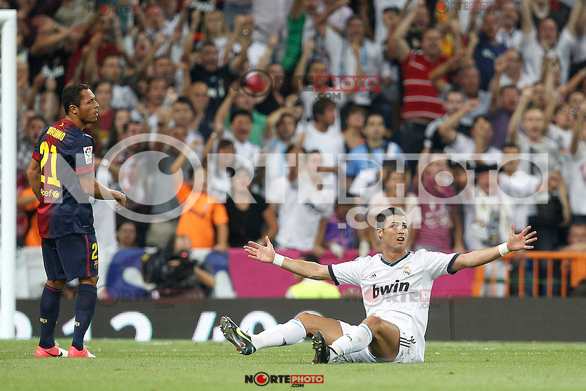Real Madrid's Cristiano Ronaldo during Spanish Supercup 2nd match on august 29 2012...Photo: Cesar Cebolla / ALFAQUI /NortePhoto.com<br />