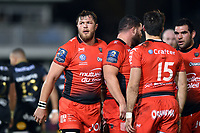 Duane Vermeulen of RC Toulon looks on during a break in play. European Rugby Champions Cup match, between Bath Rugby and RC Toulon on December 16, 2017 at the Recreation Ground in Bath, England. Photo by: Patrick Khachfe / Onside Images