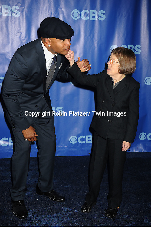 LL Cool J and Linda Hunt attending The CBS Upfront announcement of the Prime Time 2011-2012 Season on May 18, 2011 at Damrosch Park in  Lincoln Center in New York City.