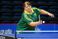 Andrea McDonnell (AUS)<br /> 2013 ITTF PTT Oceania Regional<br /> Para Table Tennis Championships<br /> AIS Arena Canberra ACT AUS<br /> Wednesday November 13th 2013<br /> © Sport the library / Jeff Crow