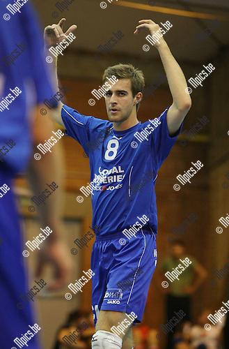 2009-09-06 / Volleybal / seizoen 2009-2010 / Schelde-Natie Kapellen / Brent De Bleser..Foto: Maarten Straetemans (SMB)